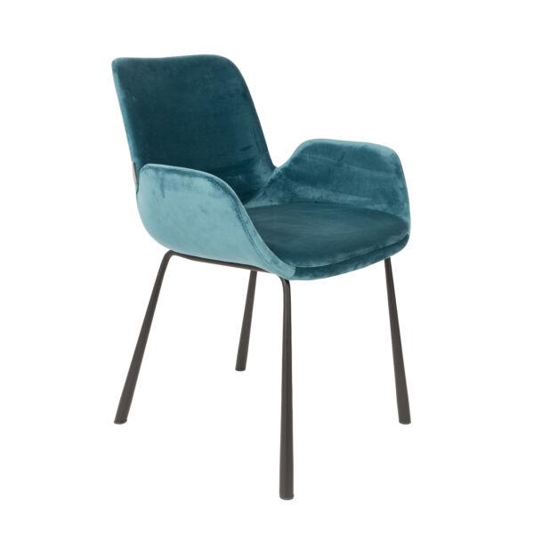 BRIT szék, petrol bársony