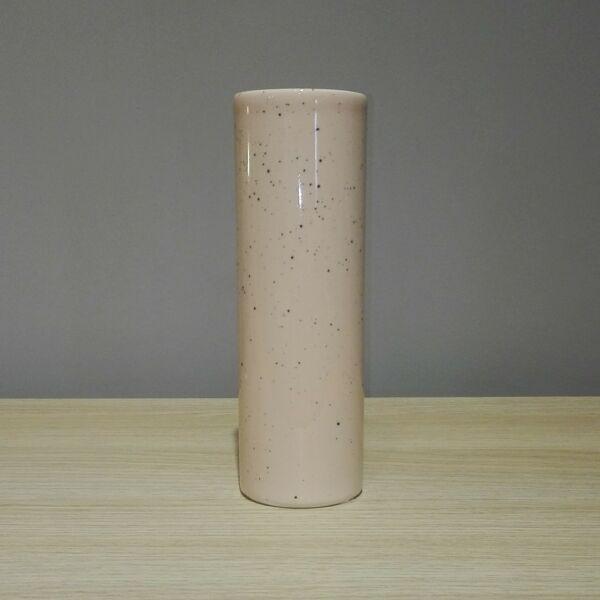 Porto váza rózsaszín/fekete kicsi kerámia