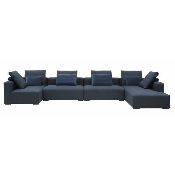 Liam moduláris kanapé jobbos, sötétkék szövet