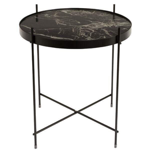Cupid lámpaasztal, márvány/fekete üveg