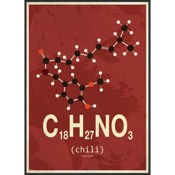 Molekula Chili kép, 50x70 cm