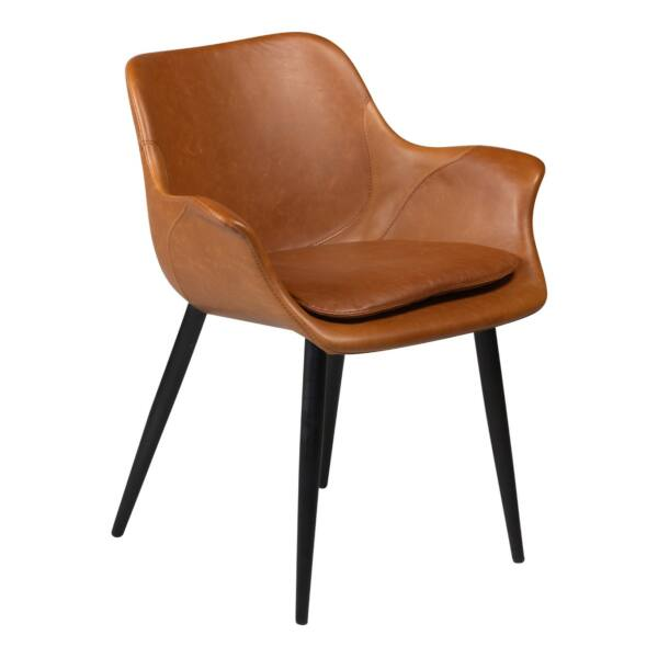 Combino design szék, barna textilbőr