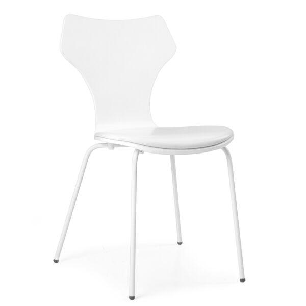 Lolly design szék, fehér textilbőr, KIFUTÓ!