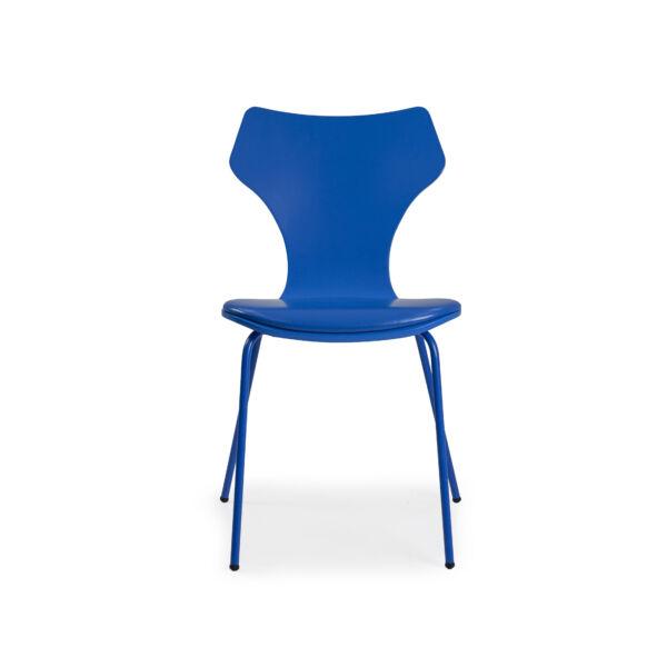Lolly design szék, kék textilbőr