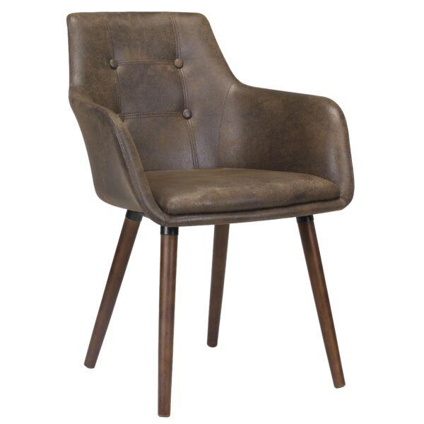 Johannesburg design szék barna/dió láb