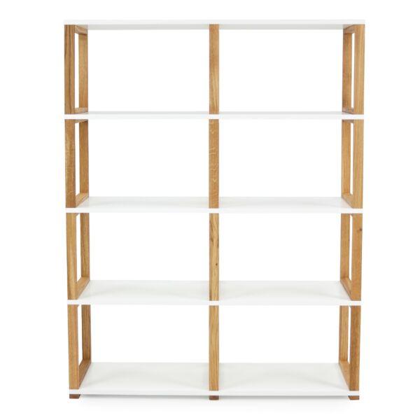 Art könyvespolc 2x4 fehér/tölgy