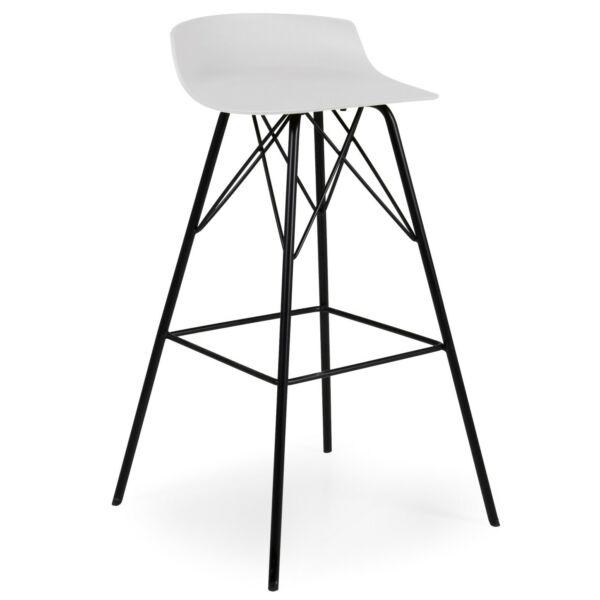 Tori design bárszék, fehér műanyag