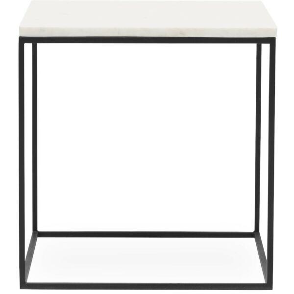 Square dohányzóasztal, 40 x 40 cm fehér márvány