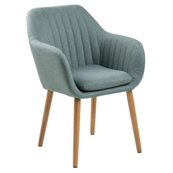 Emilia karfás design szék, olivazöld szövet