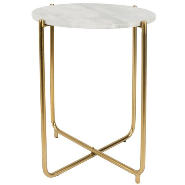 Timpa lámpaasztal, fehér márvány