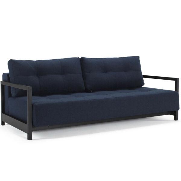 Bifrost ágyazható kanapé, kék/fekete szövet