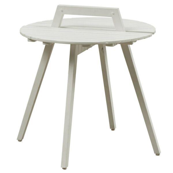 Hand-me kisasztal, fehér fa, H50cm