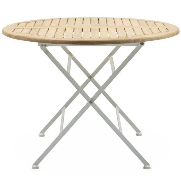 Merano kerti asztal kerek, teakfa