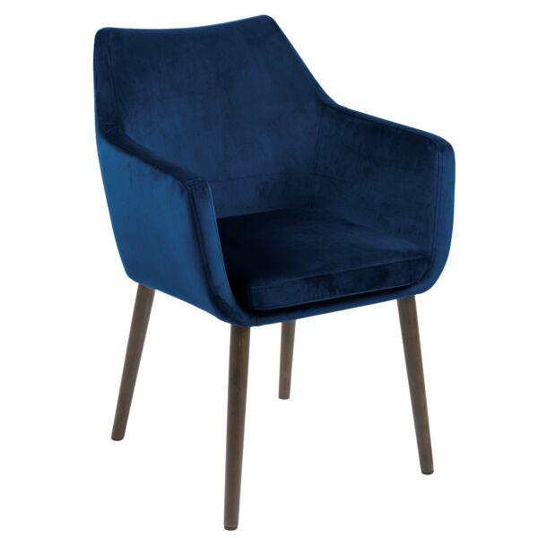 Flora design szék, sötétkék bársony