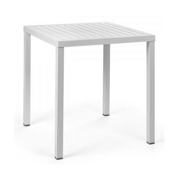 CUBE 70 kerti asztal, fehér