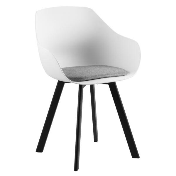 Tina design szék, fehér műanyag