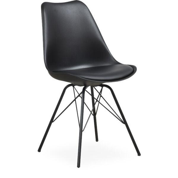 Maze szék, fekete műanyag, fekete láb