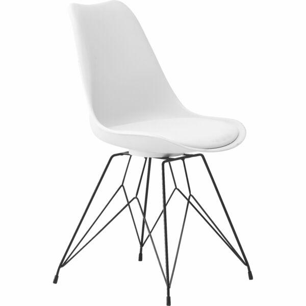 Link design szék fehér, fekete láb