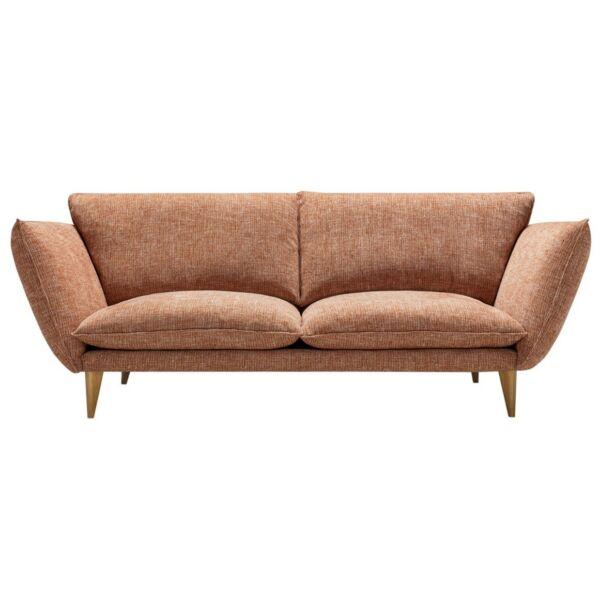 Hugo 3 személyes kanapé, narancssárga szövet