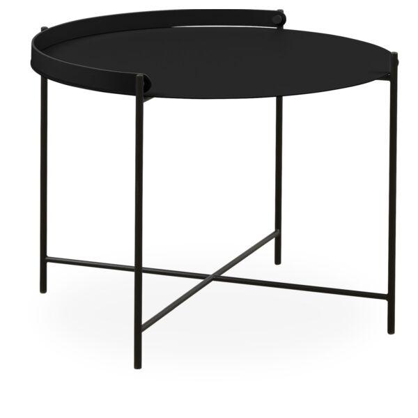 Point asztalka, fekete, D62cm