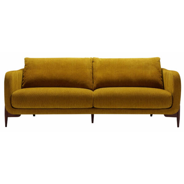 Jenny 3 személyes kanapé, mustársárga kordbársony