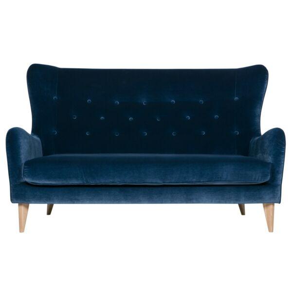 Polo 2,5 személyes kanapé, sötétkék bársony