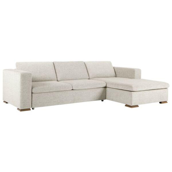 Vario ágyazható kanapé, világosszürke szövet