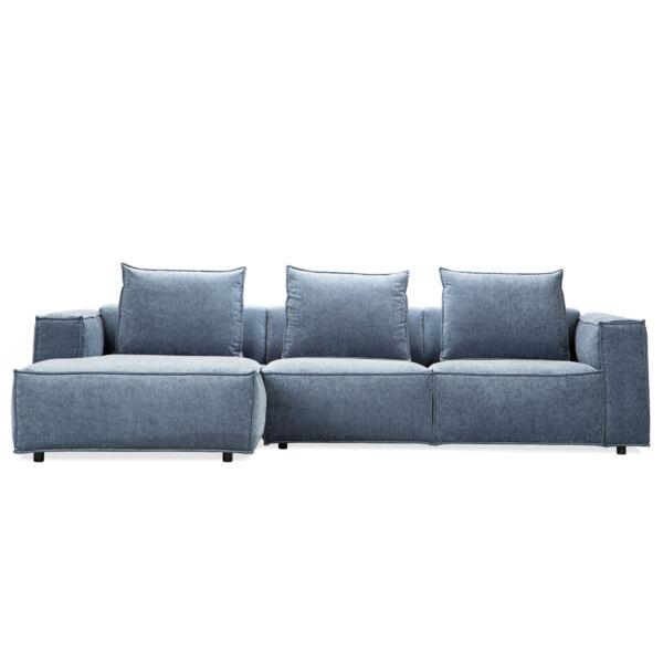 Livorno ottomános kanapé, petrol kék szövet