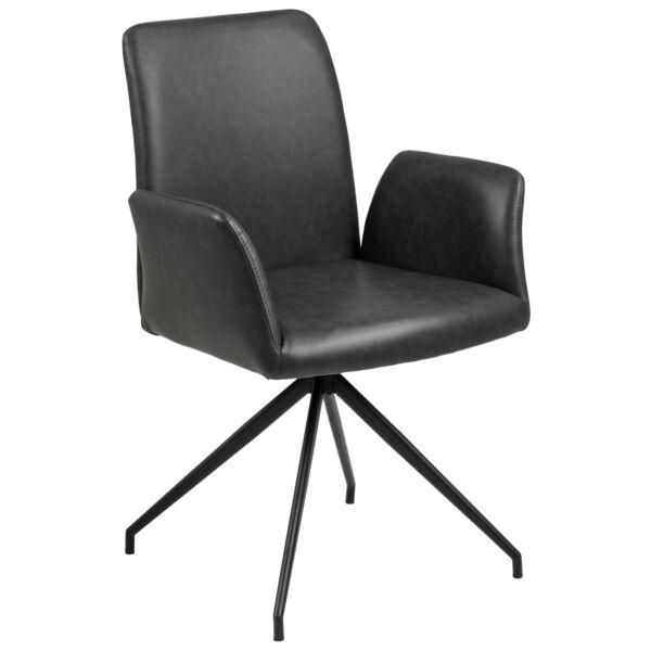 Naya forgódesign szék, fekete műbőr