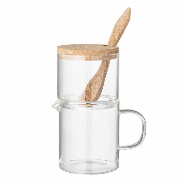 Clear tejes kancsó és cukortartó készlet