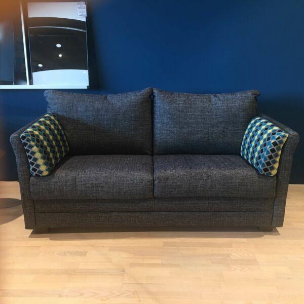 Fairy ágyazható kanapé, sötétkék szövet