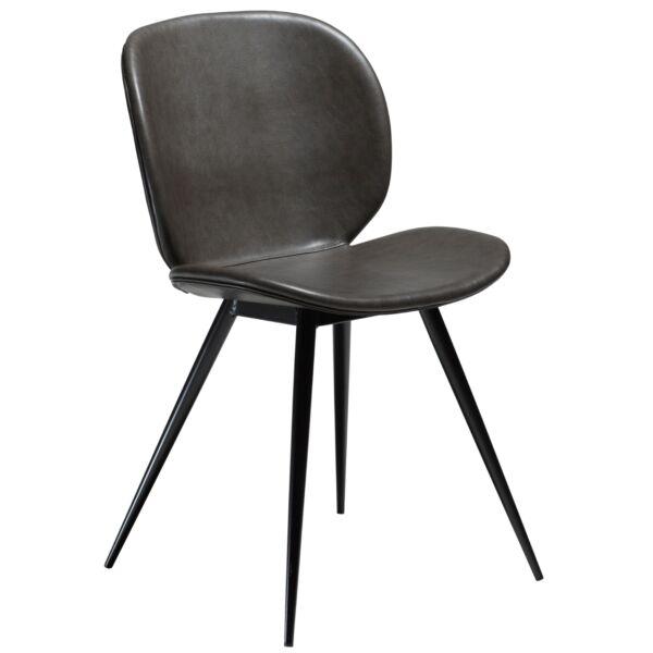 Cloud szék, vintage szürke textilbőr