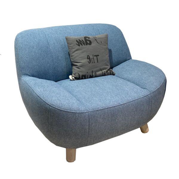 Aino fotel, kék szövet