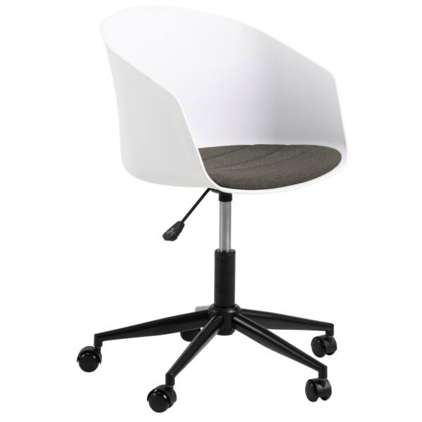 Moon irodai szék, fehér textilbőr
