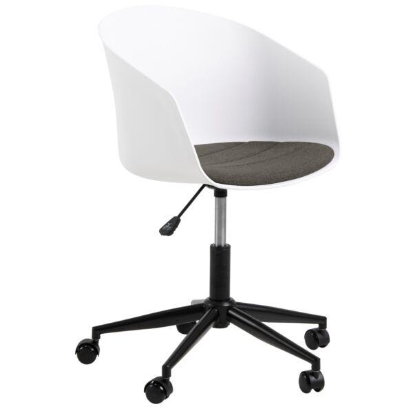 Moon irodai design szék, fehér textilbőr