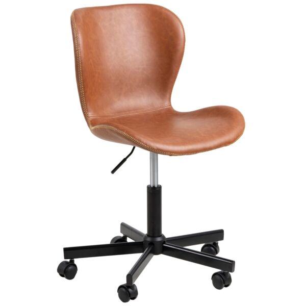 Batilda irodai design szék, barna textilbőr