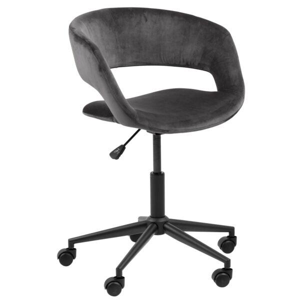 Grace irodai design szék, sötétszürke bársony