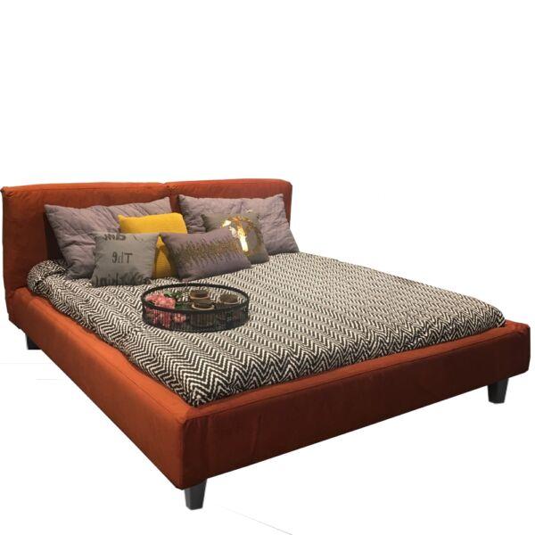 Vesta ágykeret, 180x200 cm, bronz bársony