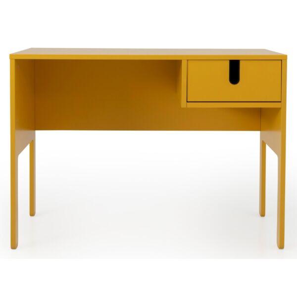 UNO íróasztal 1 fiókos, mustársárga