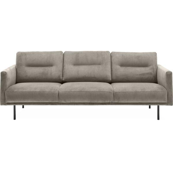 Larvik 3 személyes kanapé, homok kordbársony