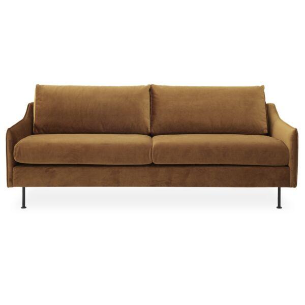 Blues 3 személyes kanapé, mustársárga