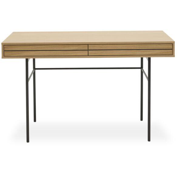 Doppler íróasztal, 2 fiókos, lakkozott tölgy
