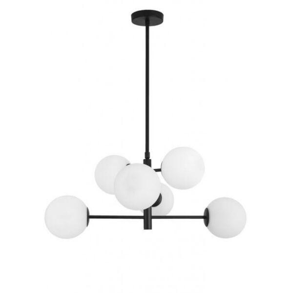 Nova Luce Impero függőlámpa, 6 izzós, fekete