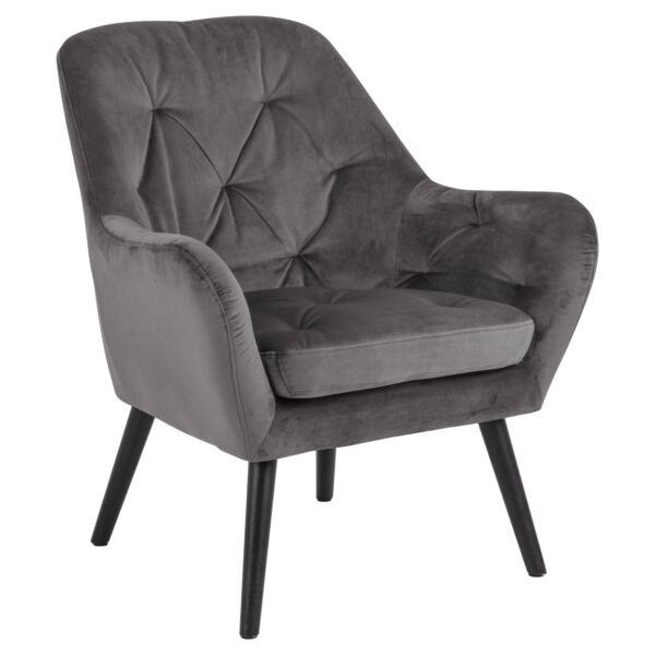 Astro fotel, sötétszürke bársony