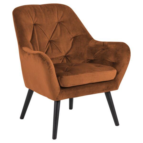 Astro fotel, rozsdavörös bársony