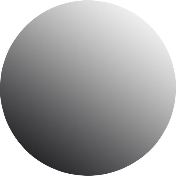 Gila tükör, fekete, D50 cm