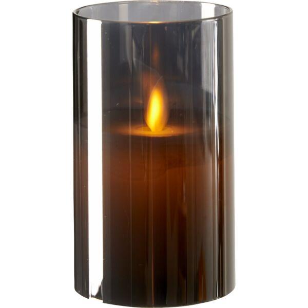Joy LED mécses, füstüveg, 13 cm