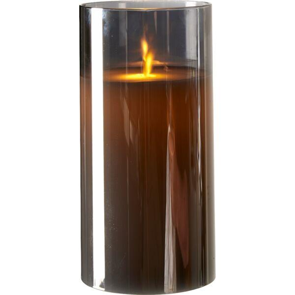Joy LED mécses, füstüveg, 20 cm