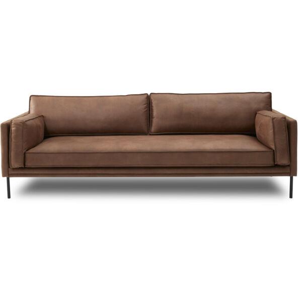 Keep 3 személyes kanapé, cognac textilbőr