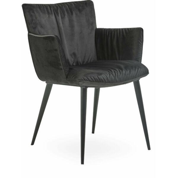 Join karfás szék, fekete velúr